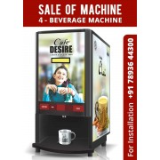 COFFEE TEA VENDING MACHINE (4 LANE)